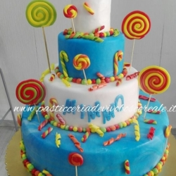 Torta lolly pop e caramelle